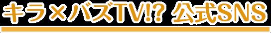 キラバズTV SNS